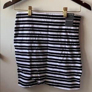 Primary striped mini skirt